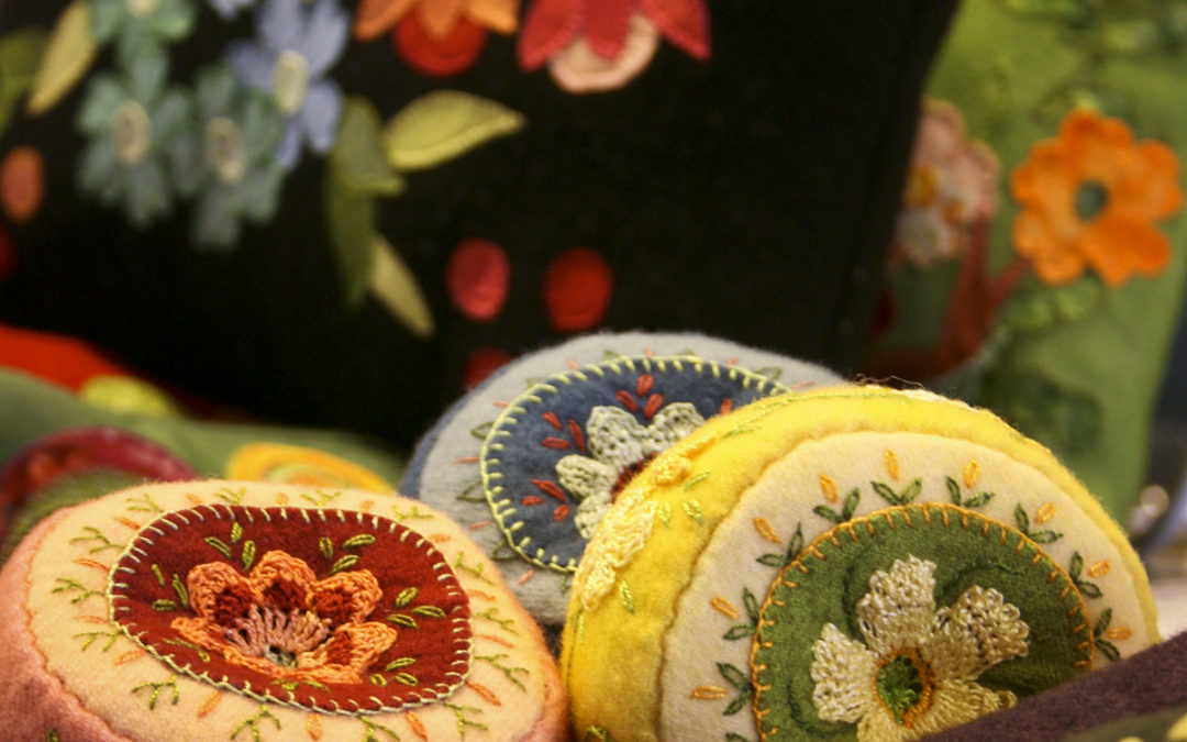 From the Almanac…whimsical embroidery on wool