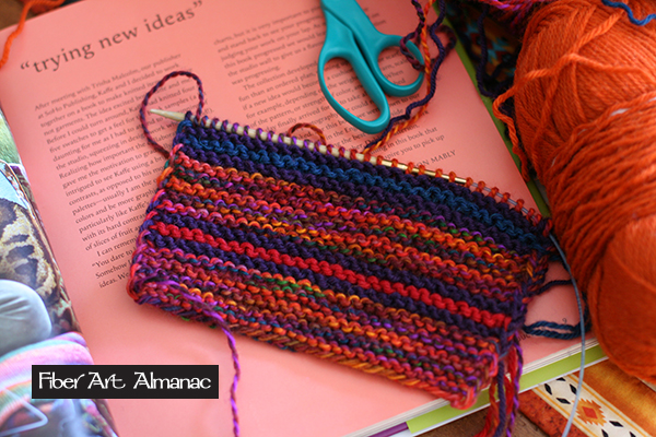 Striped sample swatch