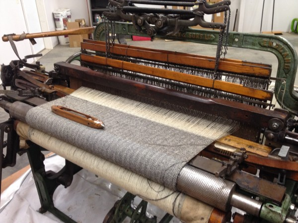 Keila's newly acquired Hattersley Loom is her cloth making machine.