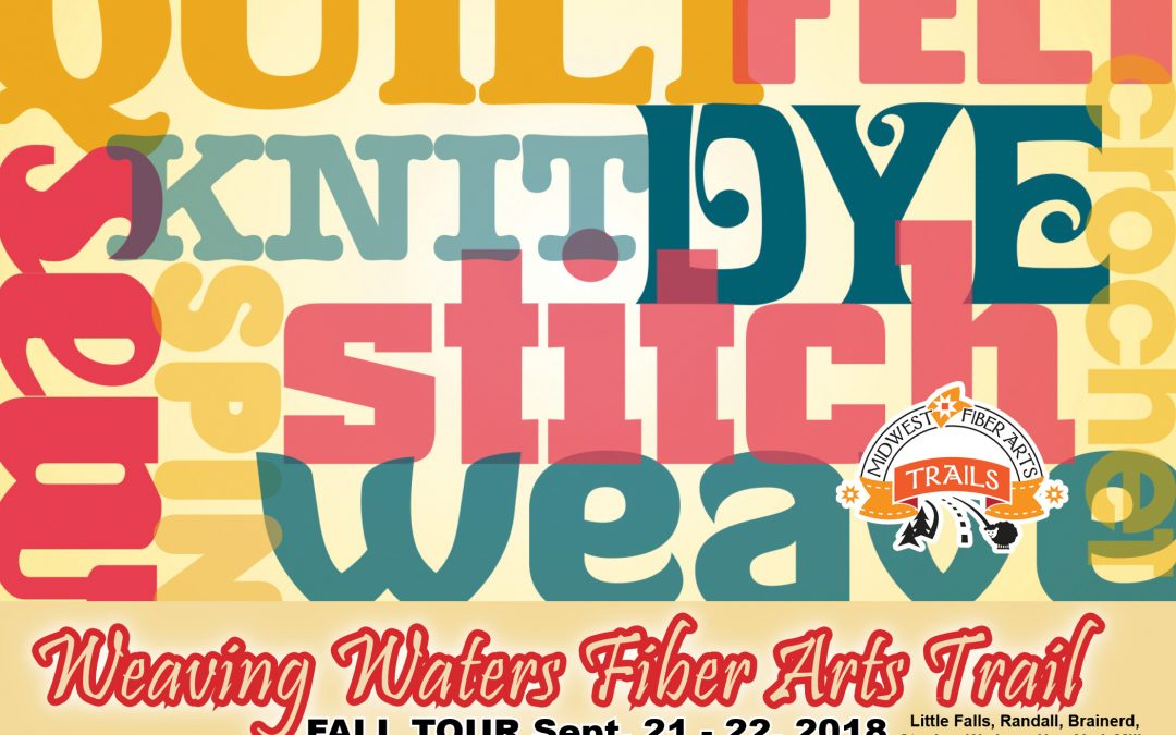 Weaving Waters Fiber Arts Fall Tour happening this weekend!